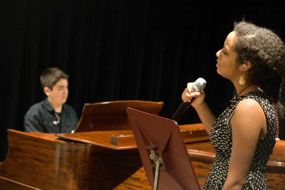 Young music artists performing