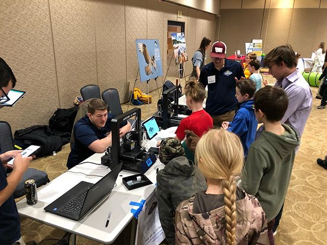 Family Science Day was a success! We had a blast sharing our excitement about design and engineering with local 5th graders! We 3d printed small scale formula one cars for everyone to get kids excited about our project. One kid said we are making the future and we agree with him! Come visit us in the SUB Ballroom from 5-7 to ask questions and see the progress of our project.