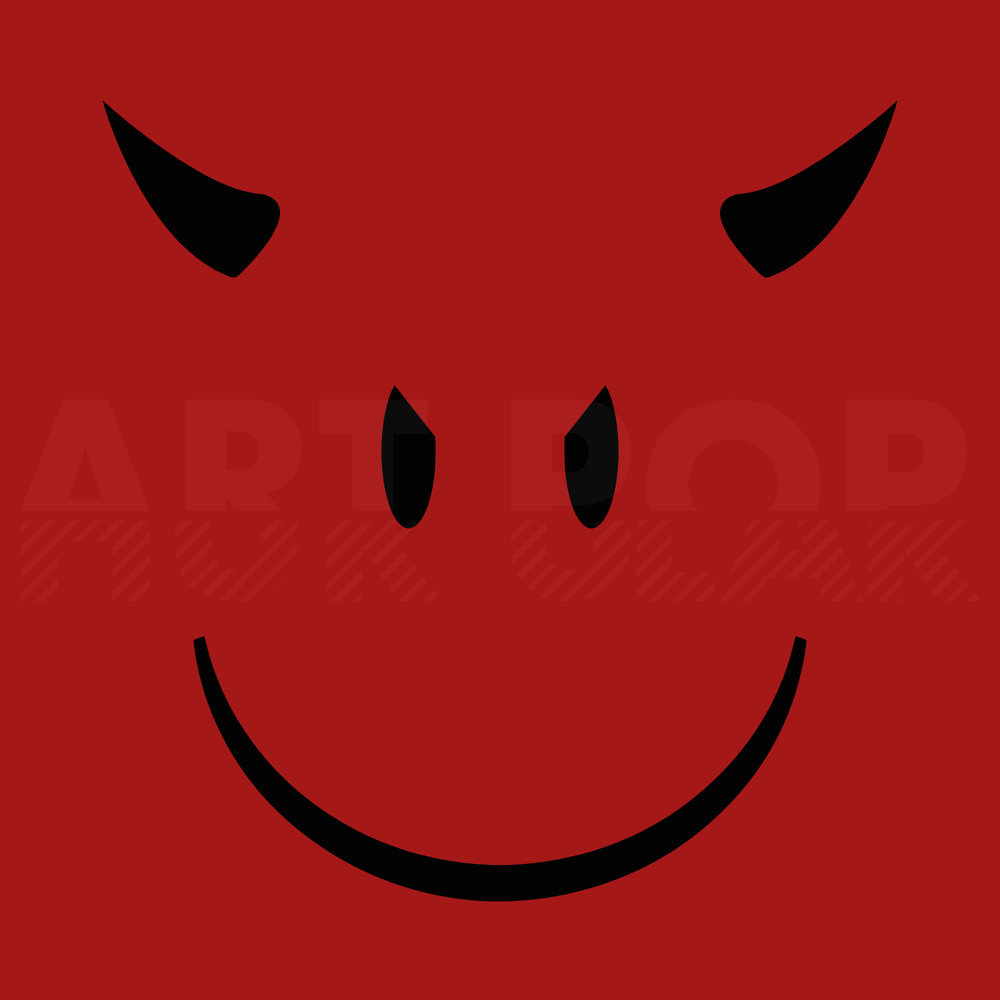 Smiley Devil - When there's juuuuust a bit more hiding behind that smile. Available via: DeviantArt | Redbubble | Society6