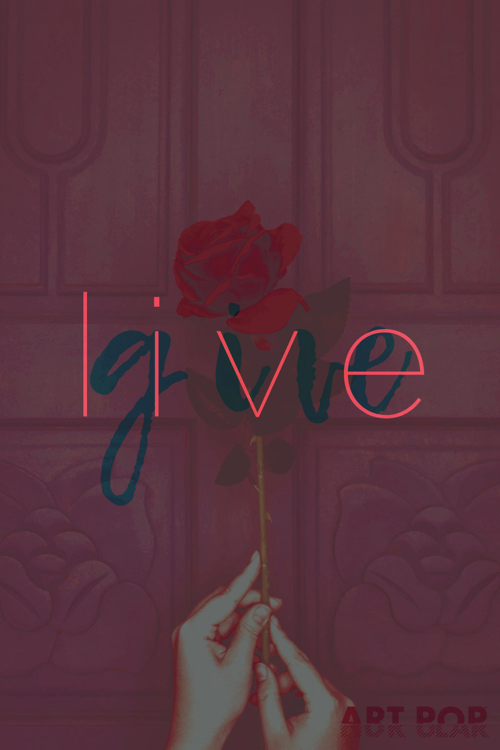Live / Give - Part two in a series of five, preceded by Revolt / Exalt, making up a motto of sorts that's been swimming in my head for many years.Available via: DeviantArt | Redbubble | Society6