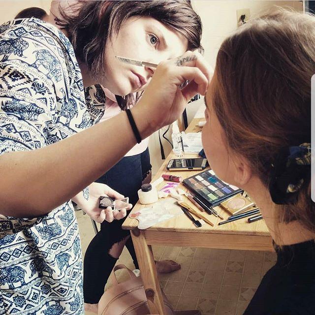 LOVE WHAT YOU DO • • • • •  @augustmcewan  @headdosbybrooke  @connallymcdougall  #behindthescenes #bts #makeupartist #tbt #throwback #mua #makeup #beauty #editorial #photoshoot #model #glamour #ritual #fashion