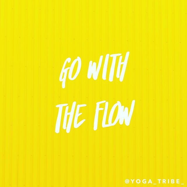 Go with the flow ✌️