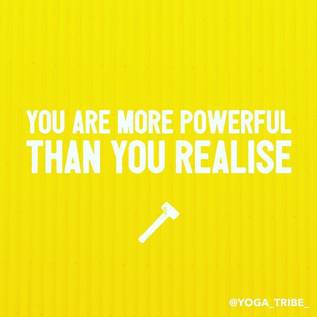 You are more powerful than you realise 👊