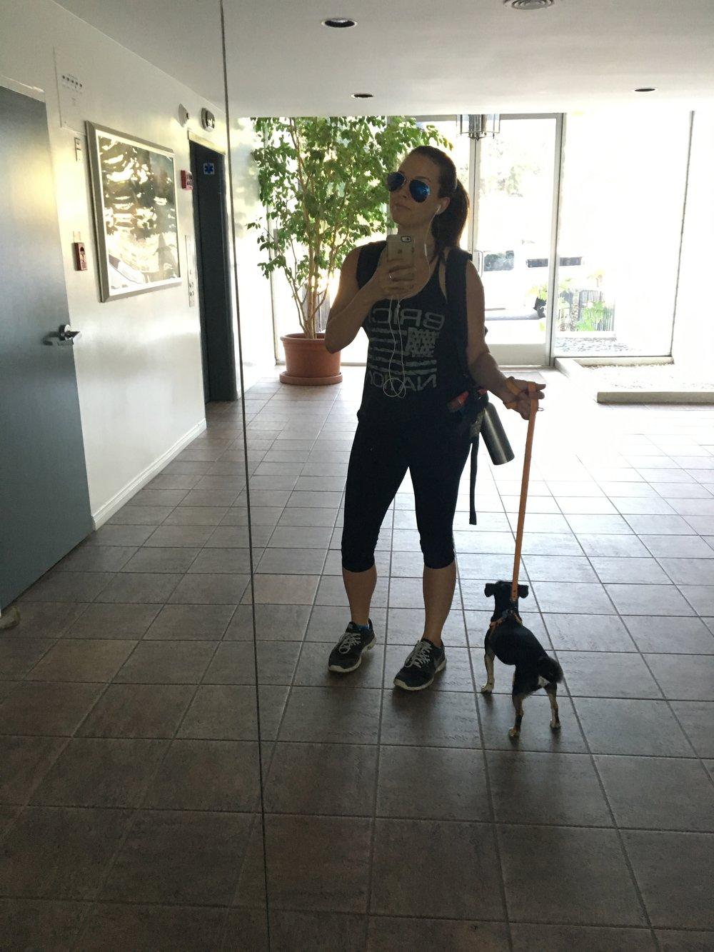 Dog walking always came naturally....