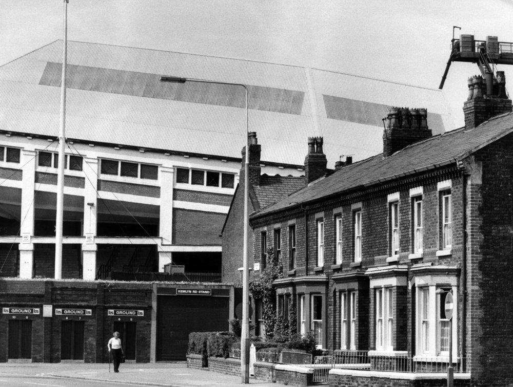 Anfield Stadium in 1980