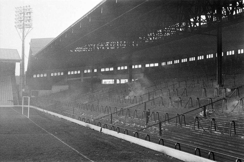 Anfield Stadium's stands in 1966.