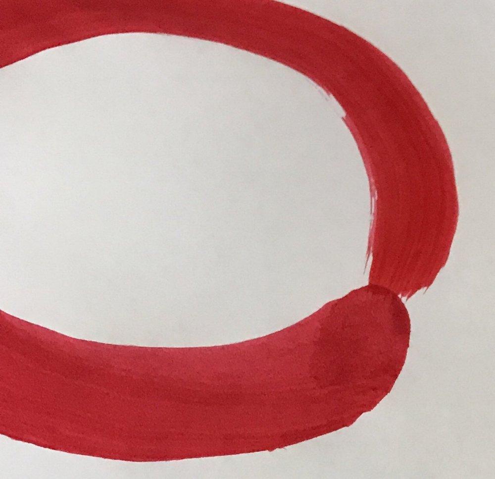 Red Enso Circle