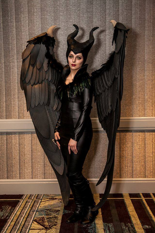 Member Alexis won a judge's award in the 2014 Youmacon masquerade competition with her awe-inspiring Maleficent costume, based on the lead character from the movie of the same name. The feathers were made using our  laser cutter , and her ring was made using our  3D printer .