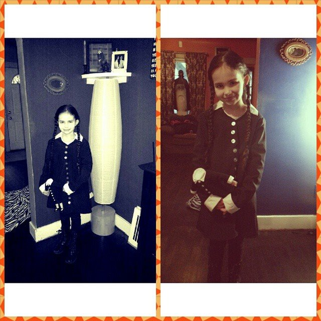 Je'Tone also made what is quite possibly the cutest-ever Wednesday Addams costume. She used the Maker Works sewing machines for this, too.
