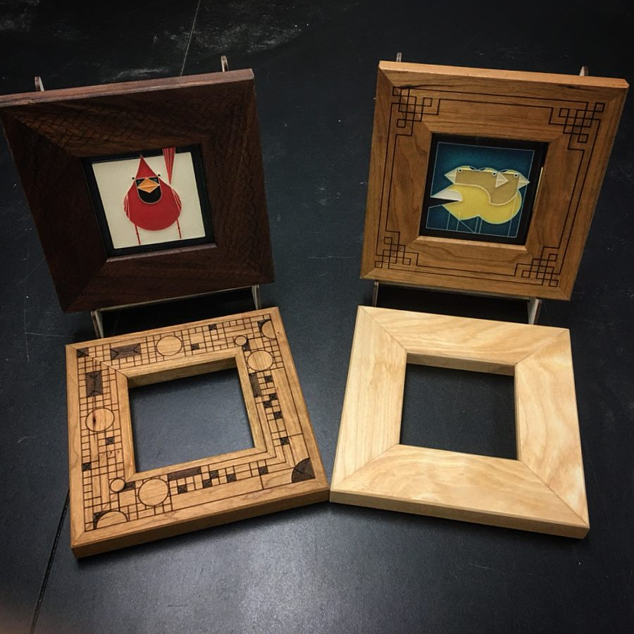 Finished frames
