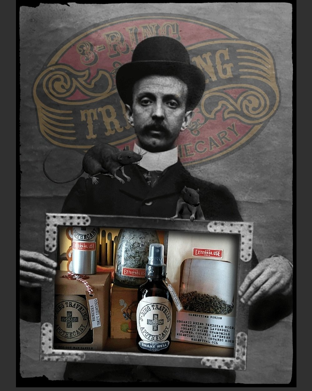 3-Ring Traveling Apothecary
