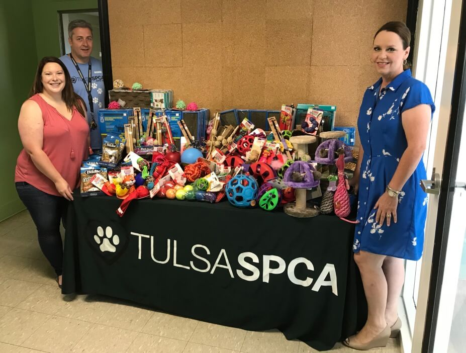 Sweets & Cream Owner Kimberly Norman Delivering $700 of Tips for Charity Merchandise to Tulsa SPCA