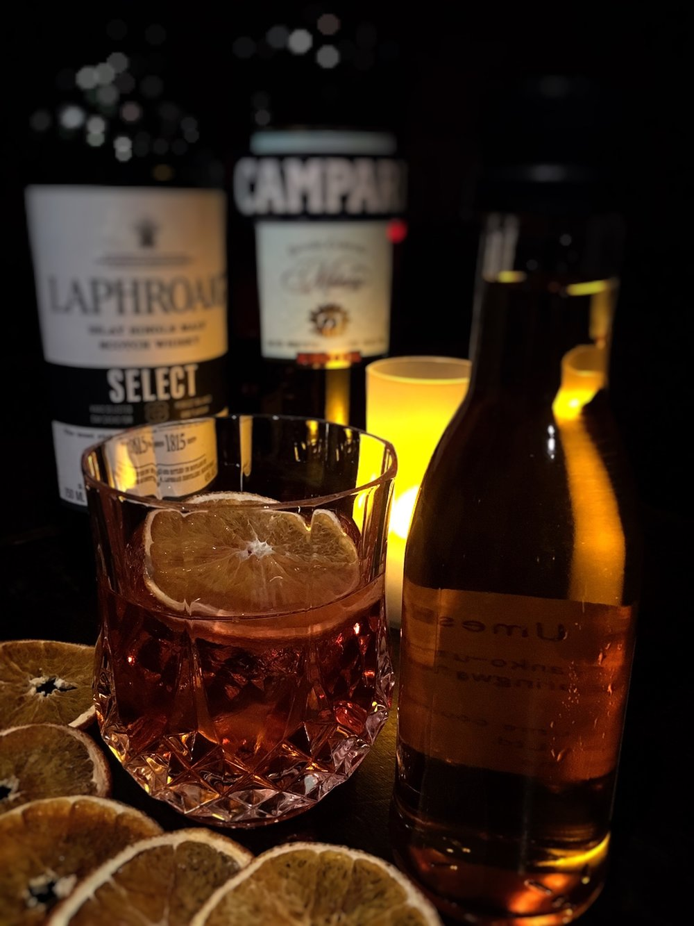 Negroni from the Cask by Yumi Nemoto (premium umeshu cocktail)