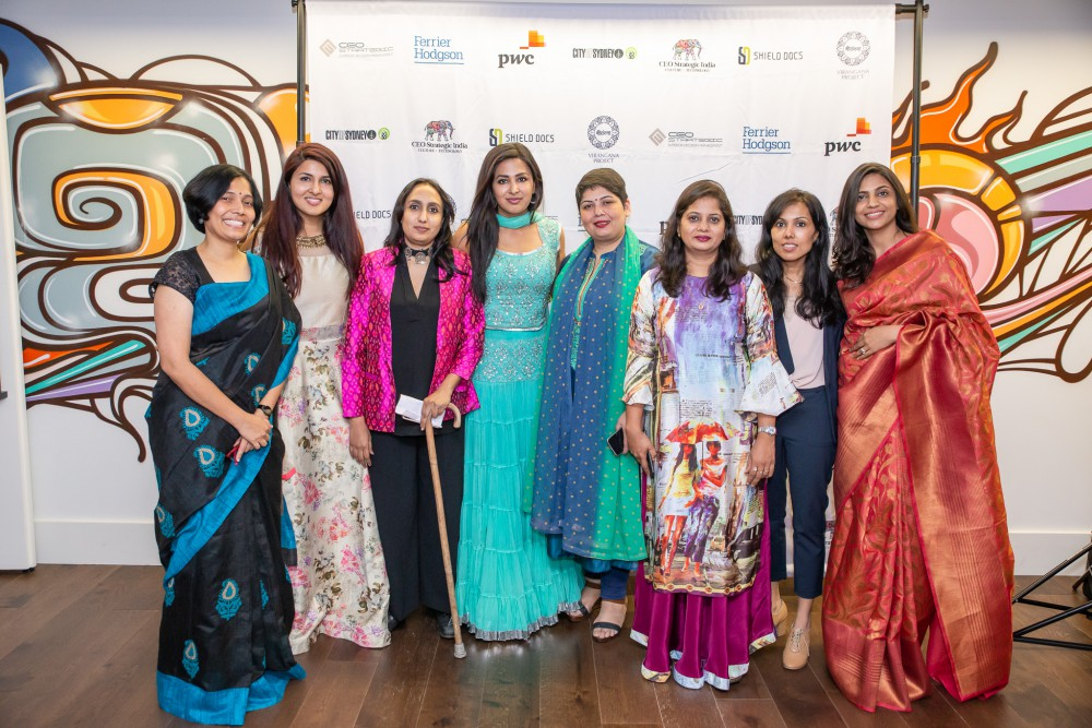 Photo: (L-R) Dr Suba Dravida, PhD (Transcell Biologics), Anmol Saini (Virangana Project, Strategic Partnerships), Aditi Balbir (V Resorts), Sukham Saini (Virangana Project, Creative Director), Rajlakshmi Borthakur (TerraBlue XT), Ruchi Rastogi (Hunar Foundation), Devika Srimal Bapna (KANABIS), Priyanka Gupta (Indian Angel Network)