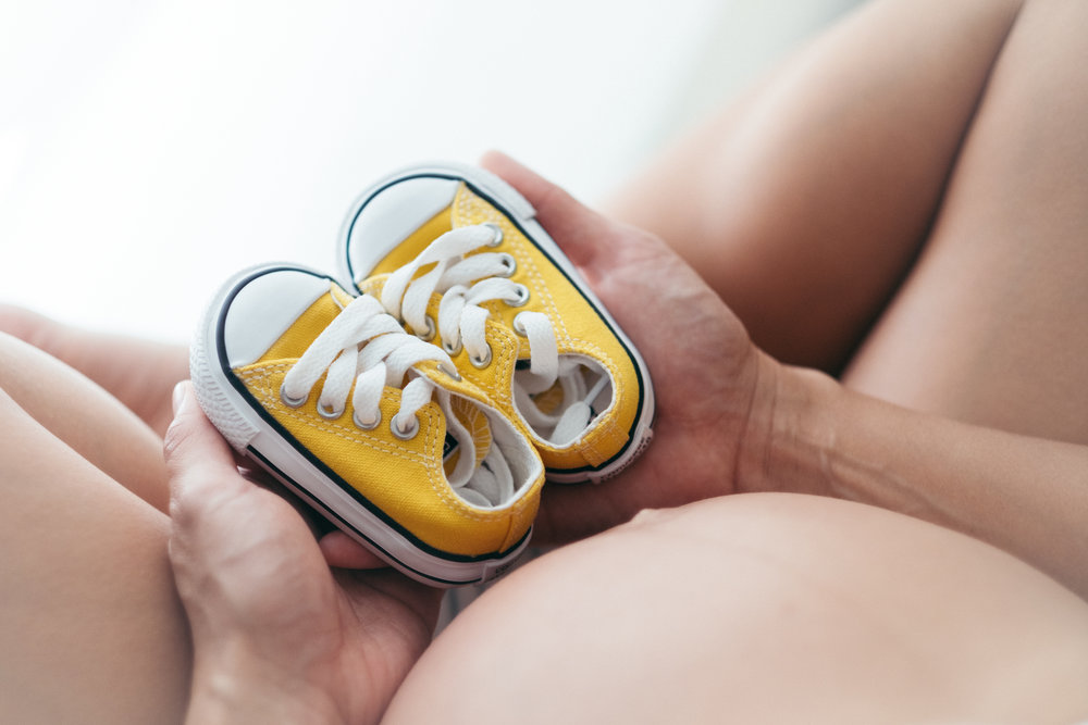 A pair of baby shoes.