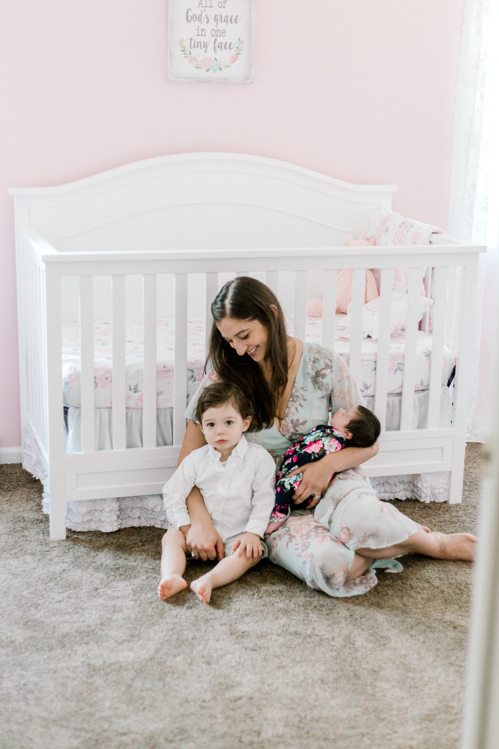In Home Newborn Lifestyle Session Baby Girl With Brother Pink Nursery  (69 of 115).jpg
