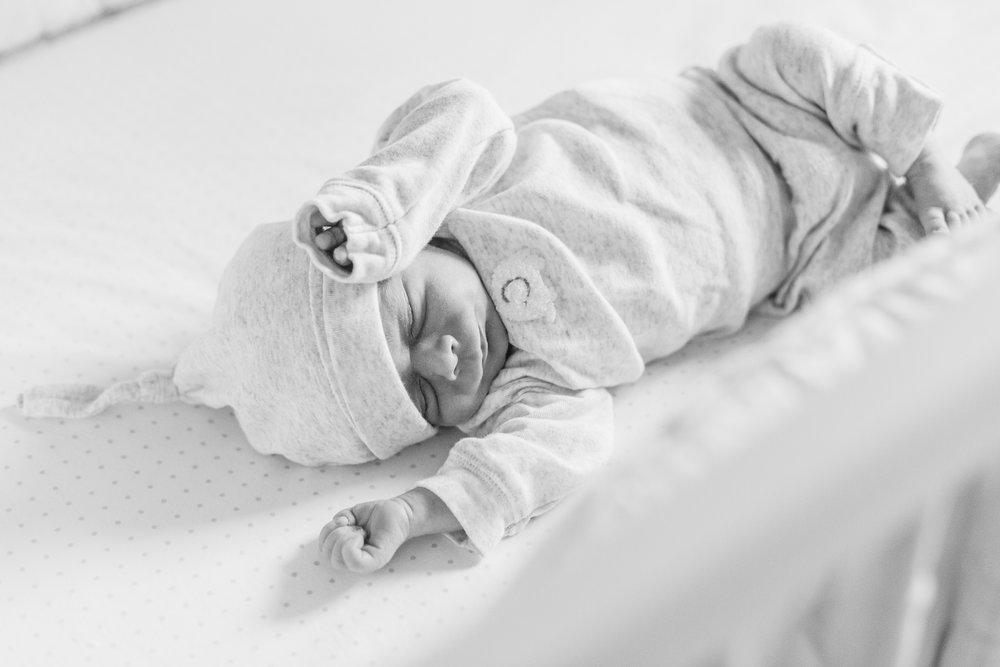 Blue Bell Pennsylvania In home newborn session with dog white and gray animal nursery wedding and lifestyle photographer Lytle Photo Co (81 of 109).jpg