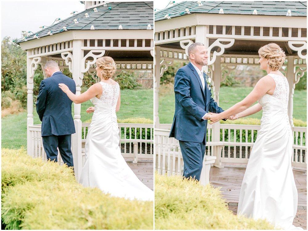 Navy blue wedding first look lehigh valley wedding photographer