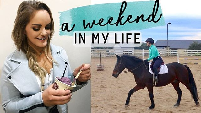 "NEW VIDEO just went live on my YouTube channel and one of the biggest takeaways I hope you get out of it is that it's OKAY to be less than perfect with your health + fitness routine💕 Aaaand there's also some footage from the barn since y'all have been saying you miss the horse content 💁🏼‍♀️🦄 . In zee vlog: - v realistic (not idealistic) full day of eating - complete circuit workout w/ sets + reps - review of a new meal kit delivery company - horsie footage (by popular demand) - general weekend shenanigans . Click the link in my bio or search ""Marie Wold"" on YouTube to watch! ❤️"