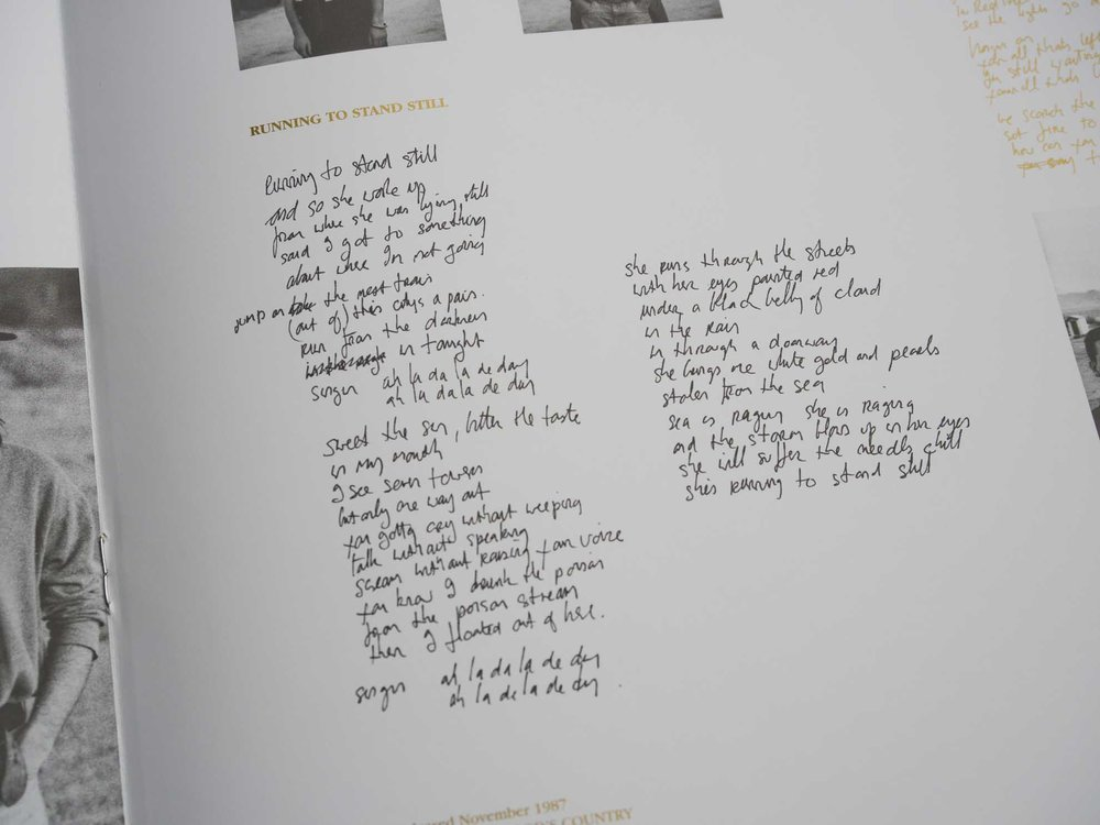 Running To Stand Still  lyrics