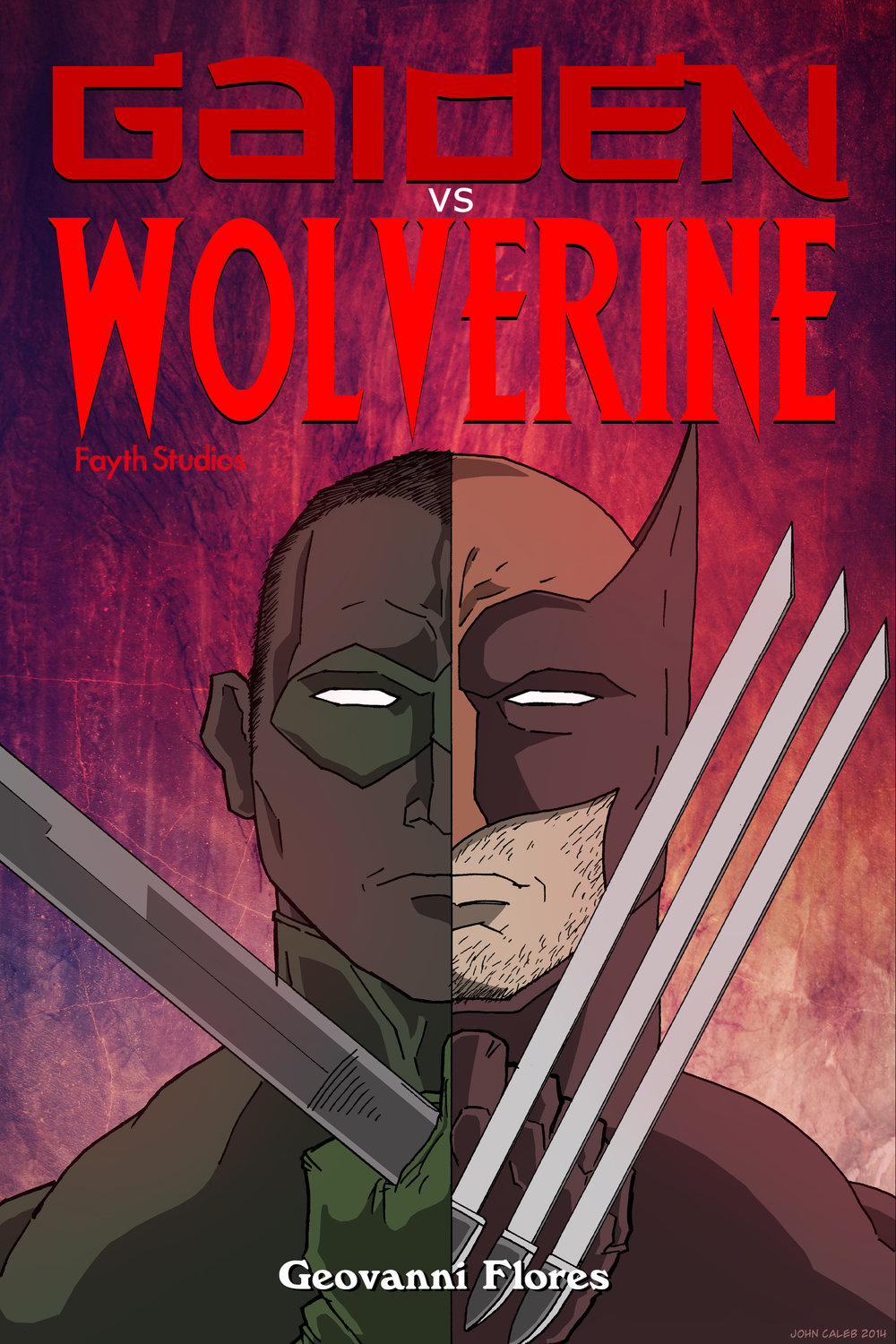 GAIDEN VS WOLVERINE * NON-CANON *   Written and Illustrated by  Geovanni Flores  .  Cover by  Geovanni Flores.