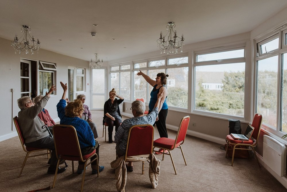 for care homes - Here I am running a Join The Circle session at The Brambles, Leigh-on-Sea, Essex. I run sessions here once a week and I'm always guaranteed banter!