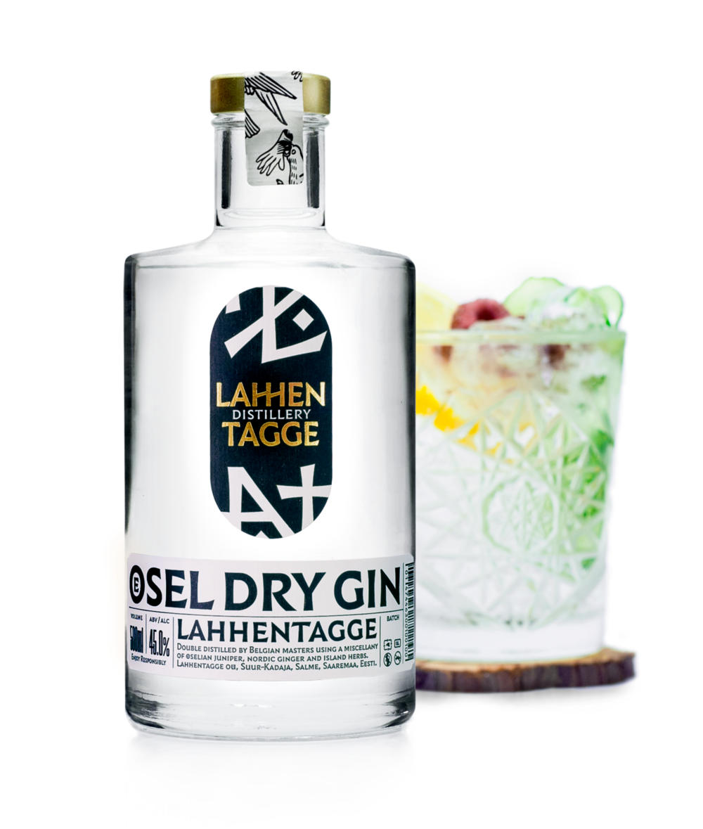 LahhentaggeÖsel Dry Gin - Ingredients: Öselian juniper berries, lilac, cowslip, elfin thyme and Nordic ginger are the key ingredients of this Estonian gin.Color: TransparentAroma: Spring flowers mix with an energetic, intensive citrus, adding a nuance to the young birch leaves and coriander seeds.Taste: The juniper berries of Saaremaa, joined with the floral bouquet of cowslip and lilac, greet you. Then the taste develops on the tongue, filling your mind with elfin thyme and Nordic ginger, and leaving an exhilarating aftertaste.Food: Snacks and light mealsServing: At temperatures up to 20 degrees, ice cubes or light tonic.From: The product is made from Öselian hand-picked herbs.Manufacturer: Lahhentagge OÜRegion: Estonia // SaaremaaAlcohol content (ABV): 45 vol