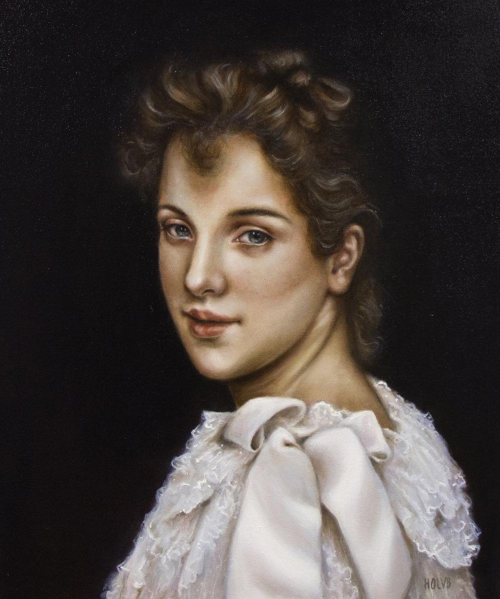 Aishan maalaus Bouguereaun mukaan.