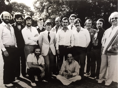THE MEETING Chris Wright  Keith Lewis Me Nigel Butterfield Des Brown Billy Bass Paul Hutchinson Roger Watson Peter Caisley Terry Ellis Seated   Sal Licata and Russ Shaw .png