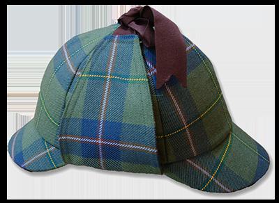 Deerstalker Hat shown in Sherlock Holmes Tartan