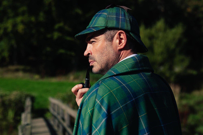 3a93df33e7f Sherlock Holmes  hat - the deerstalker fashion — Sherlock Holmes Tartan