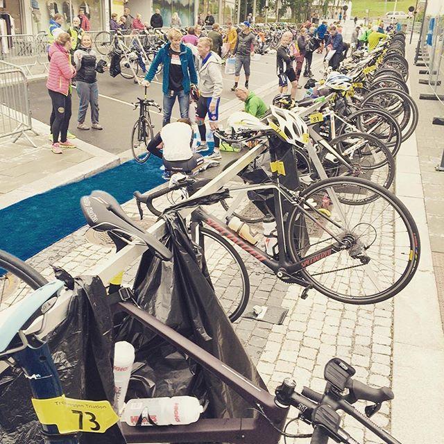 The #faracycling bike in T1 zone. The most beautiful pearl in the chian. Going up #trollstigen