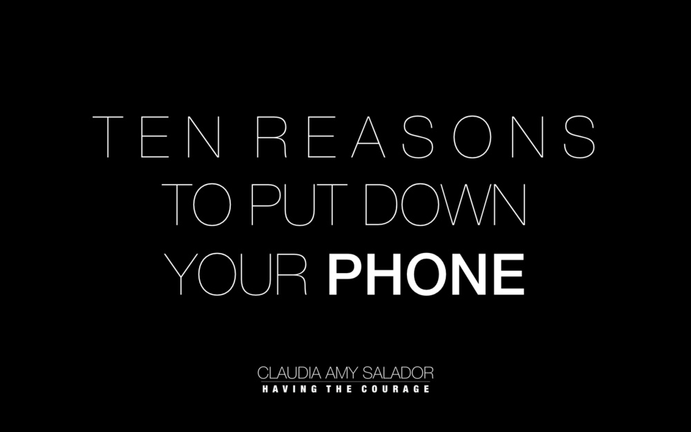 9/01/2019    'Ten Reasons To Put Down Your Phone'