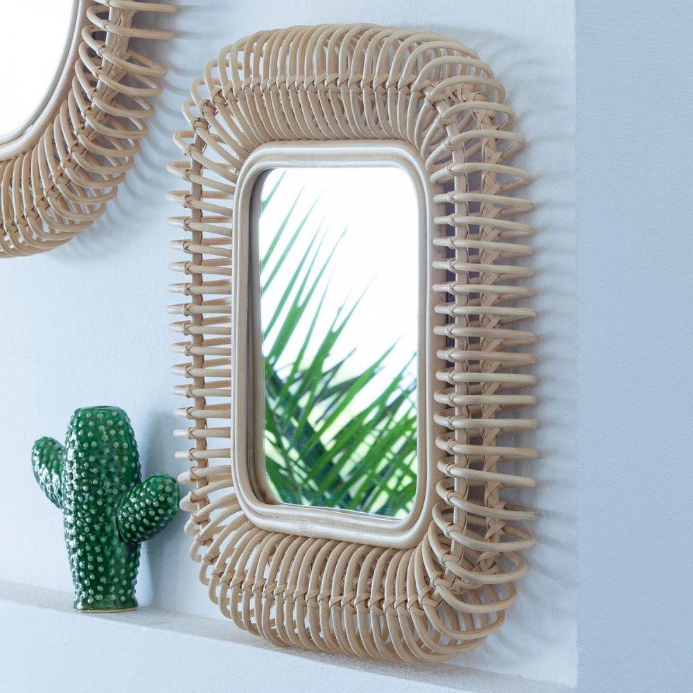 la redoute miroir espejo AMPM mimbre osier