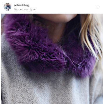 reliie blog mode snood violeta