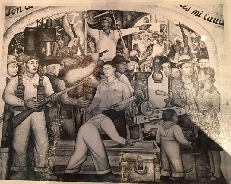 frida kahlo fresque