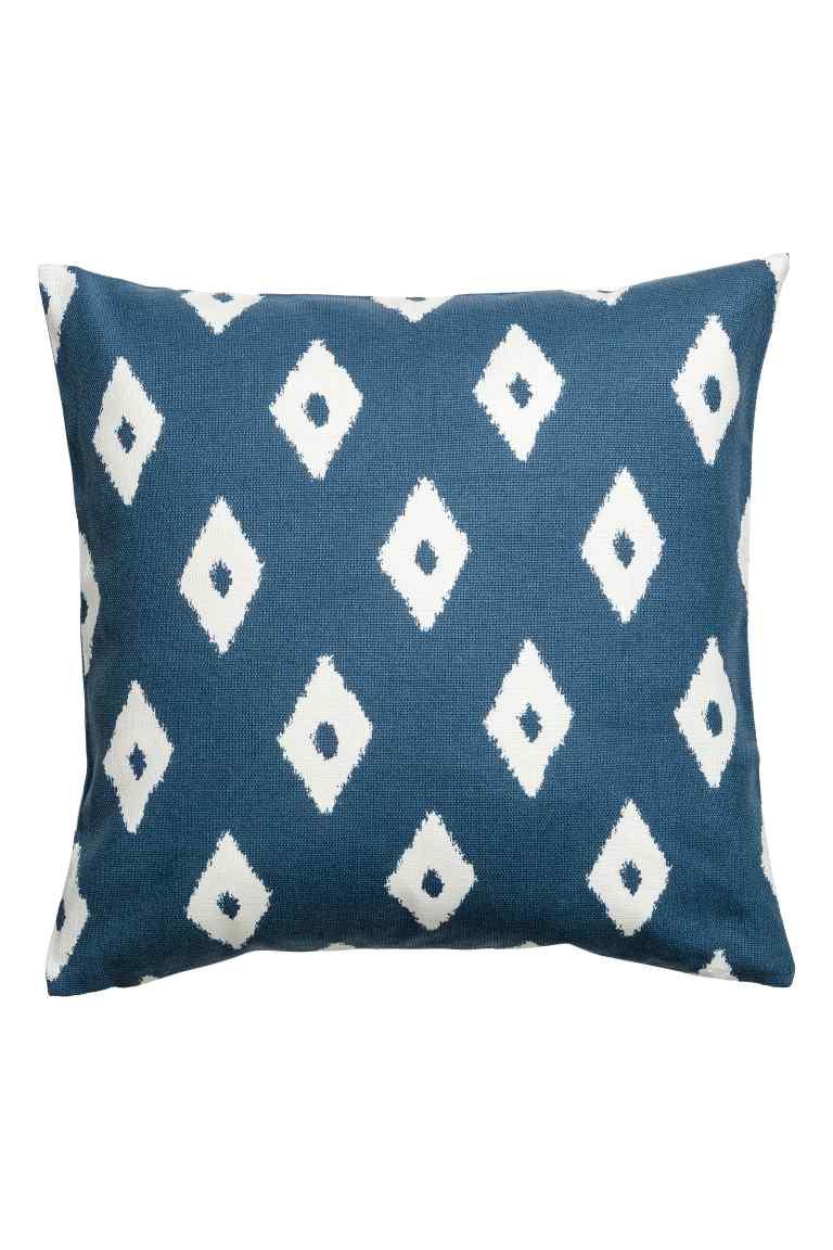 Housse de coussin à motif - Bleublanc - Home All  H&M FR.jpg