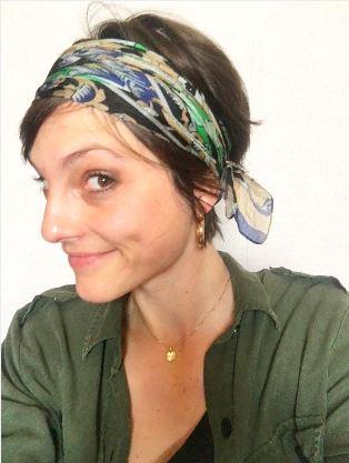 look vert chemise zara et foulard isadora.JPG