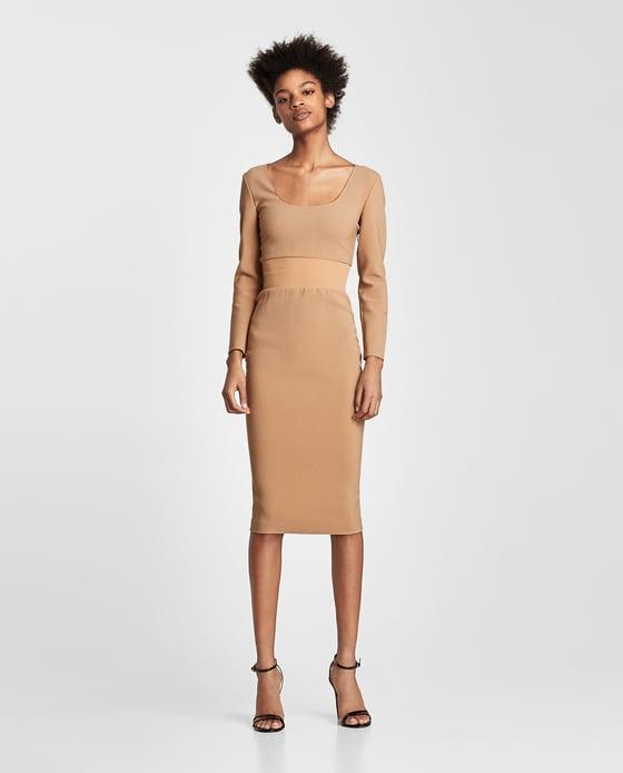 Robe bimatière Zara