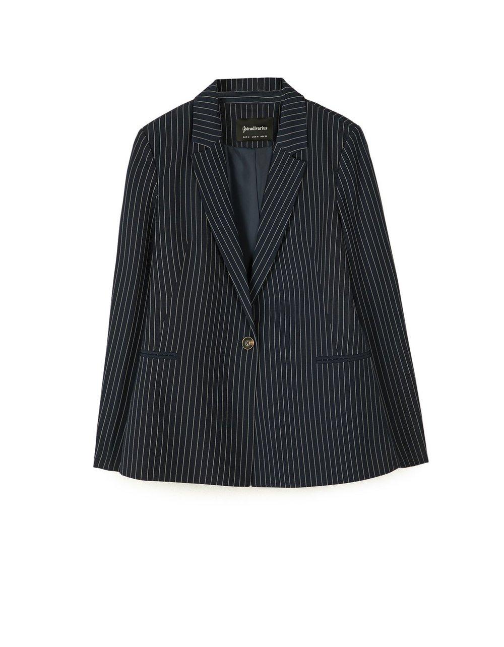 stradivarius veste tailleur rayée style .jpg