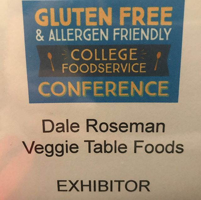 Thrilled to be able to exhibit at GFAF College Food Service Conference with these amazing brands!!