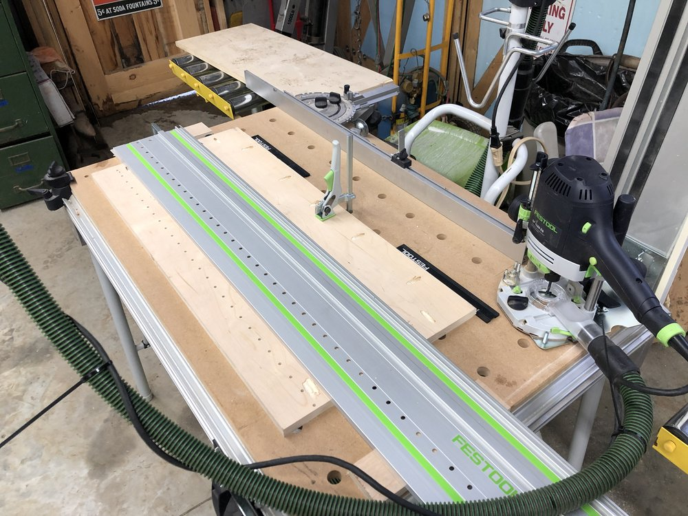 Festool is silly $$ - but when the whole system works together like this - it feels like magic. Very expense green german magic.