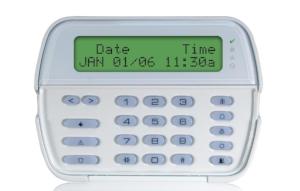 DSC LCD alarm keypad