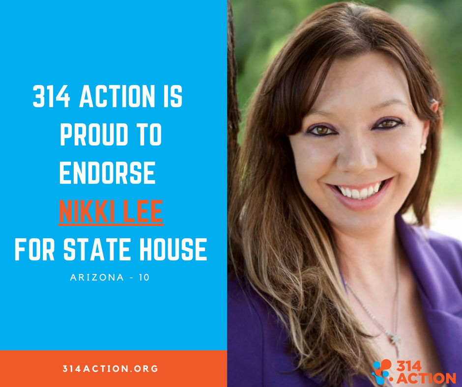 """314 Action was founded by members of the STEM community, grassroots supporters and political activists who believe in science.  We are committed to electing more STEM candidates to office, advocating for evidence-based policy solutions to issues like climate change, and fighting the Trump administration's attacks on science."" -  314 Action"