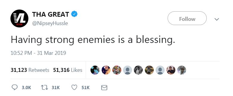 Ermias' last tweet before passing away.