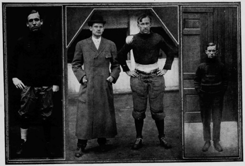 Coach William T. Foley and captain halfback Edward Adams (UC Libraries)
