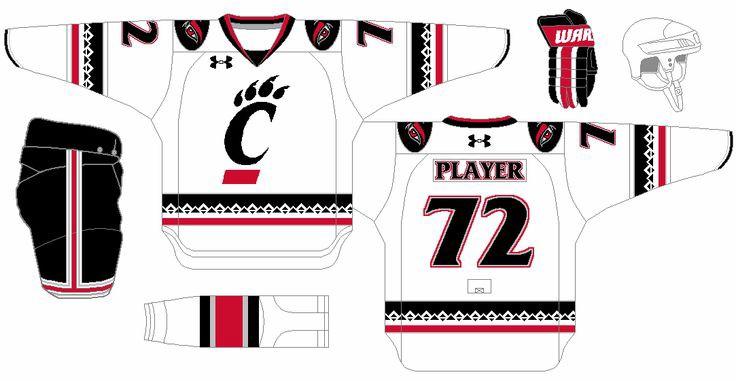 Bearcats hockey uniform concepts by  Daniel Siegel
