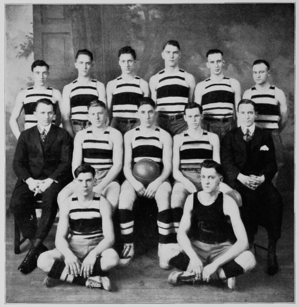 Ion Cortright (middle left) and the 1916-17 Bearcats