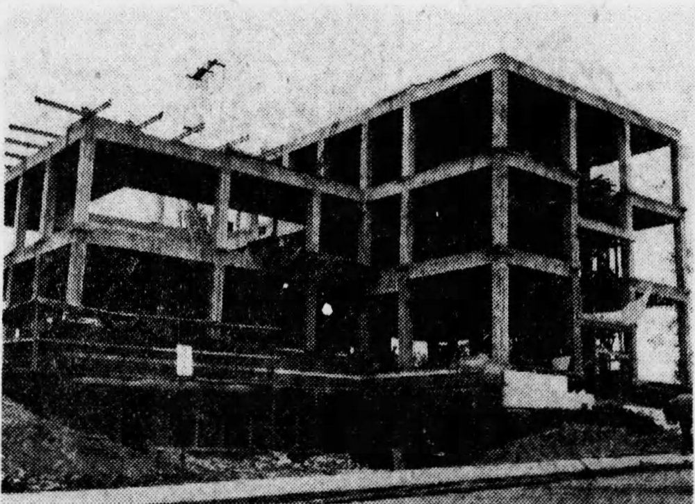 McMicken Hall under construction, September 1948 [via the Cincinnati Enquirer]