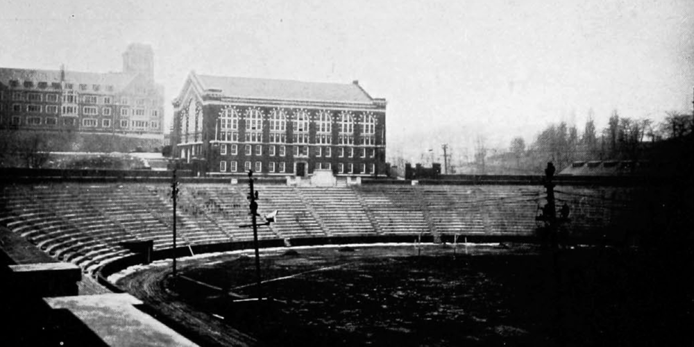 A newly completed Nippert Stadium, 1924. (UC Libraries)